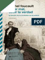 Obrar Mal, Decir La Verdad. La Función de La Confesión en La Justicia - Foucault, Michel