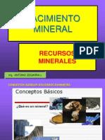 1- Yacimientos y Recursos Minerales