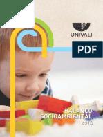 Balanço Socioambiental Univali 2014
