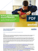 Reaching Out Autism Related Materials