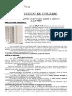 Instructiuni de Folosire Ale Aparatului Salin Plus - 2012 - Manual de Utilizare