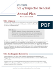 PEACE CORPS Office of Inspector General  Annual Plan Fi s c a l Ye a r 2016  Pcig Fy 2016 Oig Annual Plan