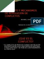 Semana 10-11 Tecnicas Resolucion Conflictos