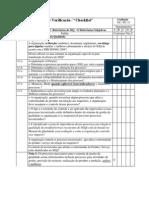 Norma Iso 9001- Itens de Verificação