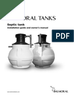 Septic Tank Installation Manual | Septic Tank | Drainage