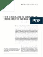 From Vernacularism to Globalism- Nazar Alsayyad