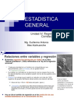 Estadística Nº 08 Regresion Lineal