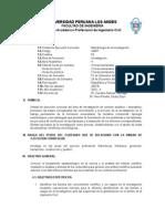 Silabo de Metodología de Investigación 2014