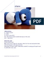 Blue Bear Pattern AMIGURUMI