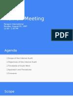 Kick Off Meeting (sample)