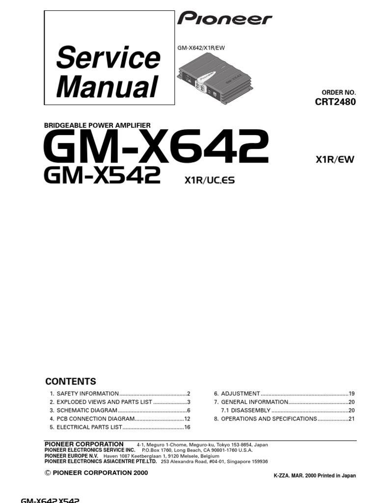 Pioneer-GMX542 642 Caramp | Printed Circuit Board | Resistor