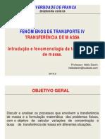 Introdução e Fenomenologia Da Transferência de Massa