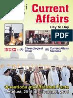 Current Affairs Aug 2015