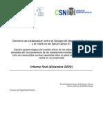 Estudio Epidemiológico Del Posible Efecto de Las Radiaciones Ionizantes
