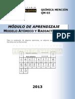 Módulo de Aprendizaje Modelo Atómico y Radiactividad