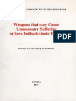 Weapons that may cause unneccessary suffering