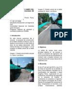 Informe Salida de Campo Del Proyecto Doble Calzada de Arauca