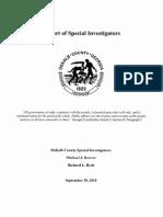 Special Investigators Report on DeKalb County