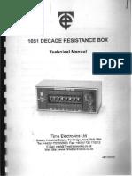 Decade Resistance Box_Technical Manual