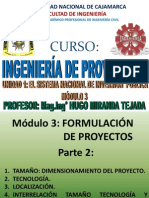 SISTEMA DE INVERSIÓN PUBLICA-FORMULACIÓN DE UN POYECTO II