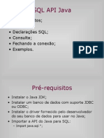 SQL API Java