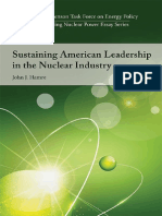 Sustaining American Leadership in the Nuclear Industry, by John J. Hamre