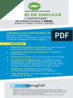 Cursuri de limbă engleză ESOL