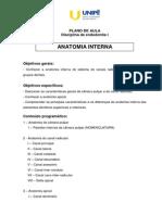 Plano de Aula - Anatomia Interna