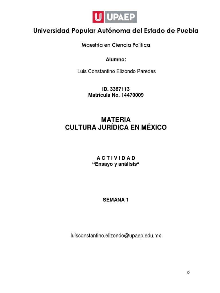 Introducción A La Argumentación Juridica México época