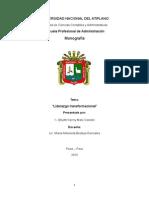 Monografia de Liderazgo Tranformacional