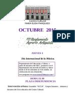 Octubre de 2015 en el MEM