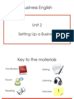 Bussiness English Unit 2 - Setting Up a Business