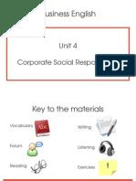 Unit 4 - Corporate Social Responsibility
