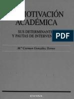 LIBRO La Motivacion Academica