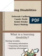 Learning Disabilities PowerPoint