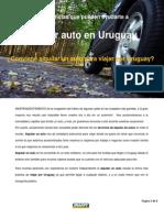 8 Sugerencias Que Pueden Ayudarte a Alquilar Un Auto en Uruguay.