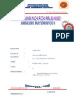 Aplicacion de La Derivada - Analisis Mat.I