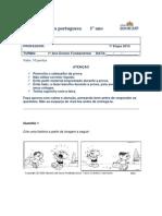 Prova de Português 1º ano Reformulada