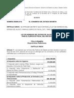 Ley de Ingresos Del Estado de Jalisco 2015