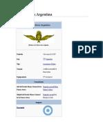 Breve Historia Fuerza Aerea Argentina