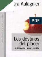 Los Destinos Del Placer [Piera Aulagnier]