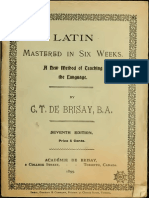 Latin Mastered in Six Weeks