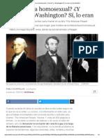 ¿Lincoln Era Homosexual?