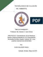 Protocolo Caracterizacion de Residuos Solidos Urbanos