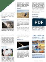 TRIPTICO - DESASTRES NATURALES