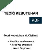 TEORI KEBUTUHAN