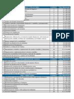 Tabla de Tarifas de Honorarios de Contadores Publicos 2012