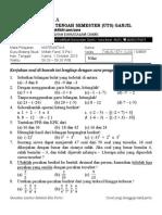 Soal UTS Ganjil Matematika 7 Reguler