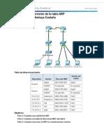5 2 1 7 Packet Tracer Revision de La Tabla ARP