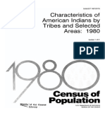 Characteristics of American Indians by Tribes and Selected Areas 1980 - US Department